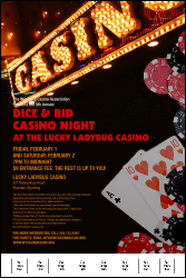 Casino Night Poster with Image Upload