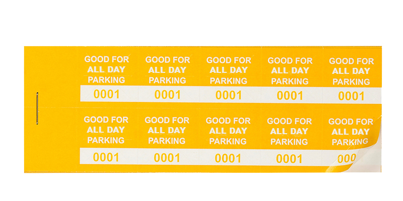 Yellow All-Day Parking Validation Stickers (package of 1000)