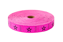 Single Roll Tickets Pink Star