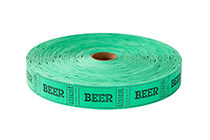 Single Roll Tickets Green Beer