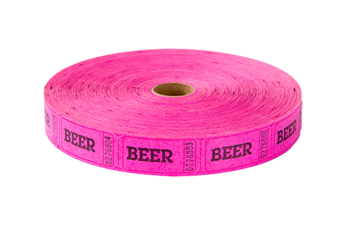 Single Roll Tickets Pink Beer
