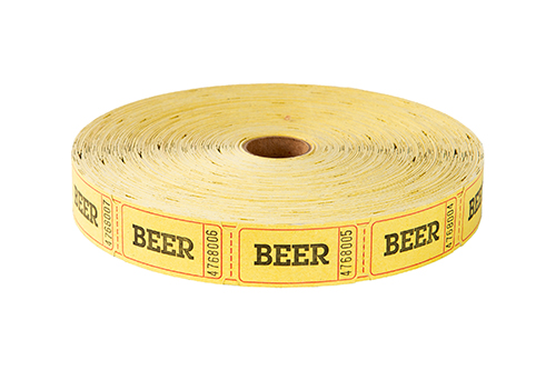 Single Roll Tickets Yellow Beer