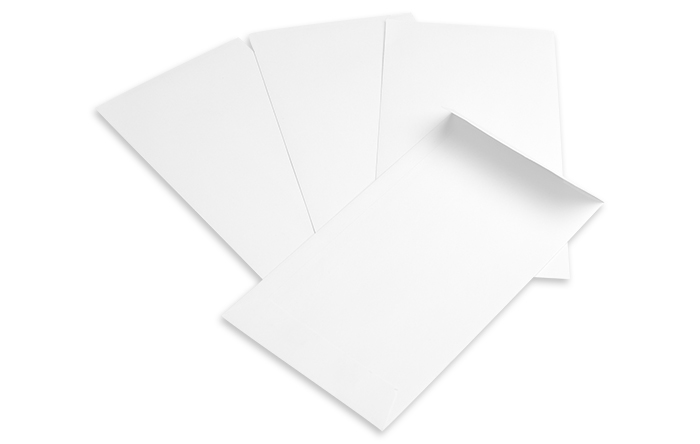 "Ticket (Coin) Envelope, 24lb White Wove, 6.5"" x 2.5"""