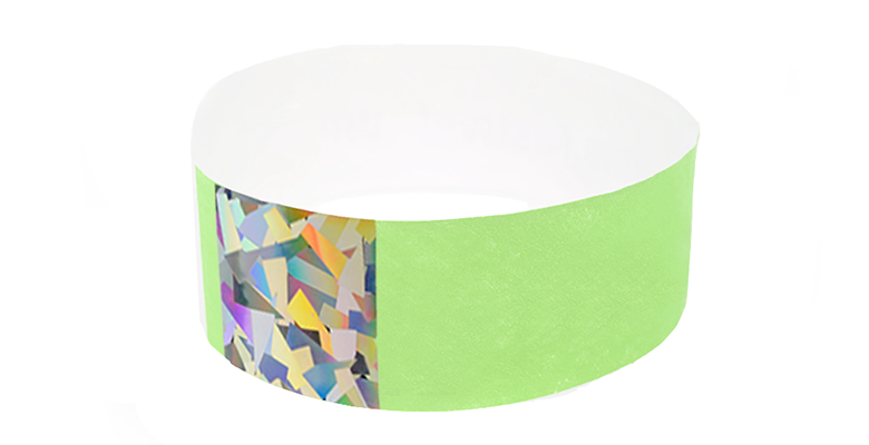 Green Hologram Tyvek Wristbands (300 pack)