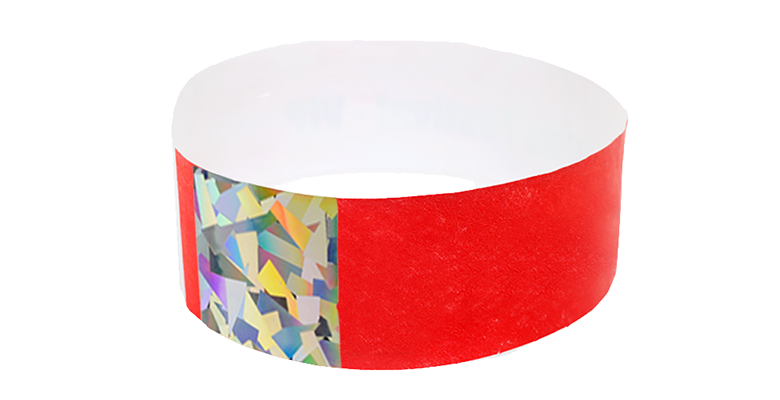 Red Hologram Tyvek Wristband (300 pack)