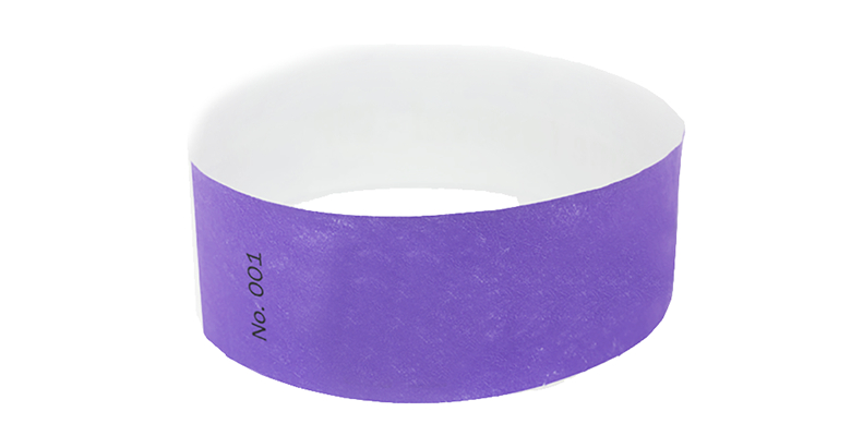 Purple Standard Tyvek Wristband (300 pack)