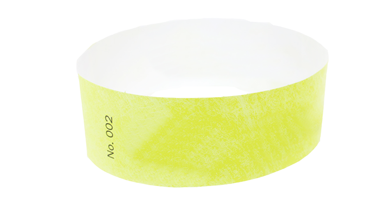 Yellow Standard Tyvek Wristband (300 pack)