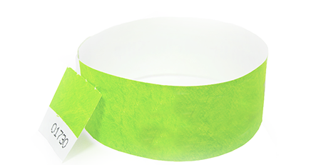 Green Stub Tyvek Wristband (300 pack)