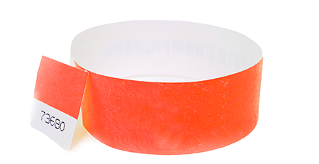 Red Stub Tyvek Wristband (300 pack)